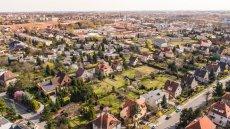 Zdjęcie z powietrza Oporów Wrocław